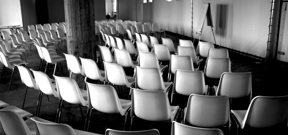 Het Boterlokaal ingericht voor een zakelijke bijeenkomst