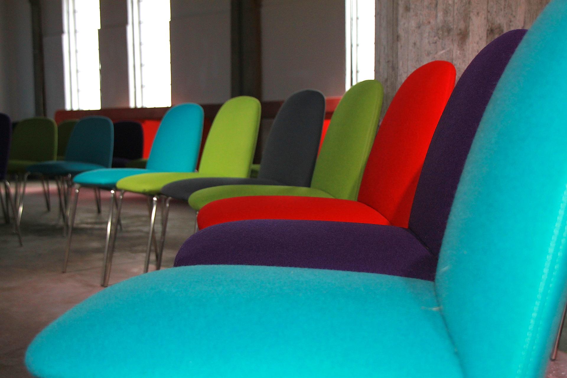 zakelijk, boterlokaal, kleur, stoelen, theater